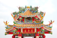 Dragon statue on china temple roof Stock Photo