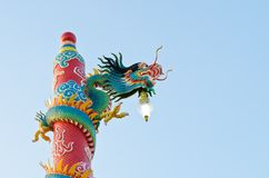 Dragon statue at Chinese shrine ,Thailand Royalty Free Stock Photography