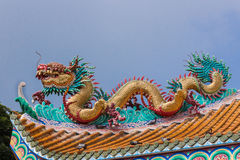 Dragon statue. Chinese style dragon statue, closed-up Royalty Free Stock Photo