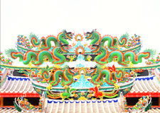 Dragon statue. Chinese style dragon statue in Thailand Royalty Free Stock Images
