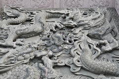 Dragon statue in chinese temple Stock Photos