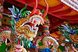 Dragon - statue in a Chinese temple Royalty Free Stock Photos