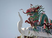 Dragon statue. At chinese temple in Thailand royalty free stock photography