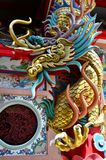 Dragon statue at Chinese Temple of Thailand Royalty Free Stock Photos