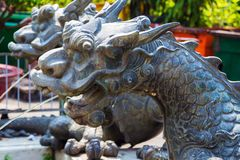 Dragon statue decorative. Chinese dragon symbol. old dragon decorative statue fountain royalty free stock images