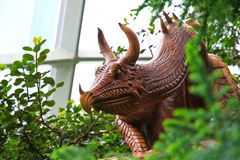 Dragon Statue di legno Fotografia Stock