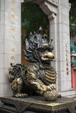 Dragon statue at the entrance to the Wong Tai Sin Temple Royalty Free Stock Photo