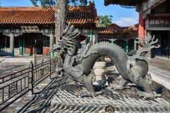 Dragon Statue Forbidden City Beijing Kina Royaltyfri Fotografi