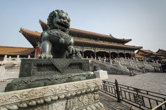 Dragon Statue Forbidden City Beijing Kina Arkivbild