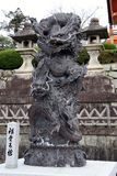 Dragon statue in front of the kiyomizu-dera temple gate. Close up of Dragon statue in front of the kiyomizu-dera temple gate, Kyoto, Japan stock photography