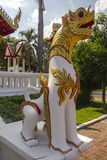 Dragon statue guarding temple in Chiang Mai Stock Images