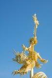 The dragon statue on horseback Royalty Free Stock Photos