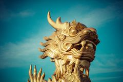 Dragon Statue. Imperial Royal Palace of Nguyen dynasty in Hue, V. Ietnam. Unesco World Heritage Site stock images