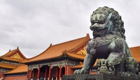 Dragon statue inside the forbidden city in Beijing, Vietnam royalty free stock photos