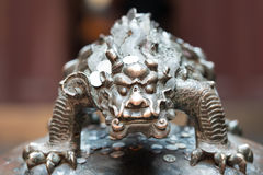 Dragon statue in the The Jade Buddha Temple shanghai china Royalty Free Stock Image