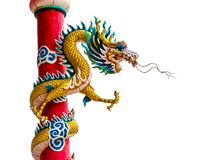 Dragon statue. Statue of a dragon is a legendary creature in Chinese cities Stock Image