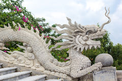 Dragon statue on Linh Ung Pagoda Royalty Free Stock Image