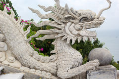 Dragon statue on Linh Ung Pagoda Royalty Free Stock Images