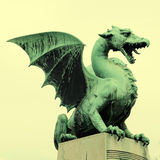 Dragon statue in Ljubljana, Slovenia Stock Photography