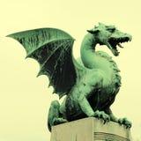 Dragon statue in Ljubljana, Slovenia Stock Photography