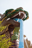 Dragon statue, located in the city centre of Suphanburi to celebrate Royalty Free Stock Image