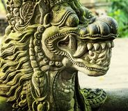 Dragon statue. In Monkey Forest Sanctuary in Bali, Indonesia royalty free stock photography