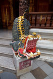 Dragon statue with mouth open Royalty Free Stock Photography
