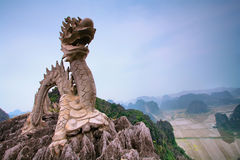 Dragon Statue near Hang Mua Stock Photos