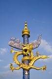 Dragon statue on nice sky Royalty Free Stock Images