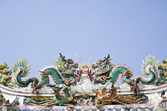 Dragon statue on the roof Royalty Free Stock Image
