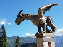 Dragon statue. Statue of a dragon in Slovenia stock photos