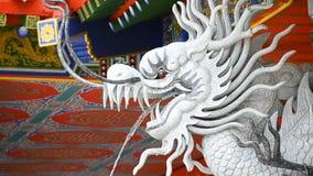 Dragon Statue Spray Water In kinestempel lager videofilmer