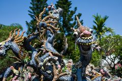 Dragon statue at temlle in Hoi An, Vietnam. royalty free stock images