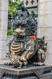 Dragon statue Temple Kowloon Hong Kong Royalty Free Stock Photo