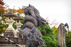 Dragon statue at the temple in Kyoto Royalty Free Stock Photography