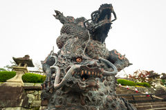Dragon statue at the temple in Kyoto Stock Photo