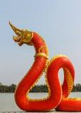Dragon statue. thai style Royalty Free Stock Photos