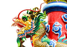 The Dragon Statue. The Zoom of chainess Dragon Statue Stock Photo