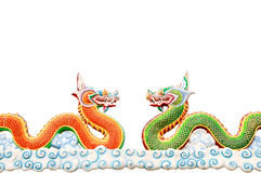 Dragon statues. On white background.Great for use as illustration Royalty Free Stock Photography