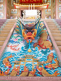 Dragon Status Stairs NaZha(Gods Of Honour)temple Stock Images
