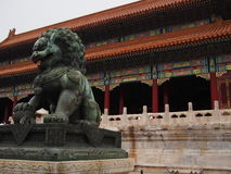 Dragon statute at Forbidden City Stock Photo