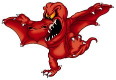 Dragon Sterax Red Stock Image