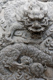 Dragon Stone Carving Royalty Free Stock Image