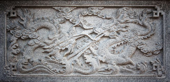 Dragon Stone Carving Royalty Free Stock Photos