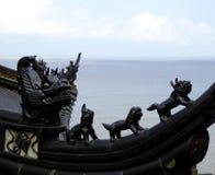 Dragon stone carving Stock Photos