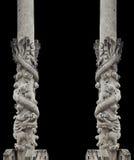Dragon stone pole Stock Photo