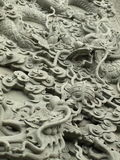 Dragon stonework statue Royalty Free Stock Photo