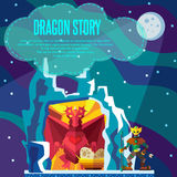 Dragon story. Stock Images