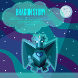 Dragon story. Royalty Free Stock Image