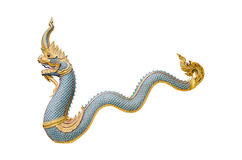 Dragon stucco isolate on a white background Stock Image